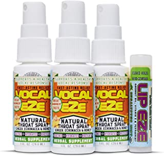 Vocal Eze Throat Spray | Relieve Sore, Hoarse, Fatigue, Dryness of Throat | Herbal Immune Support, All Natural Ingredients...