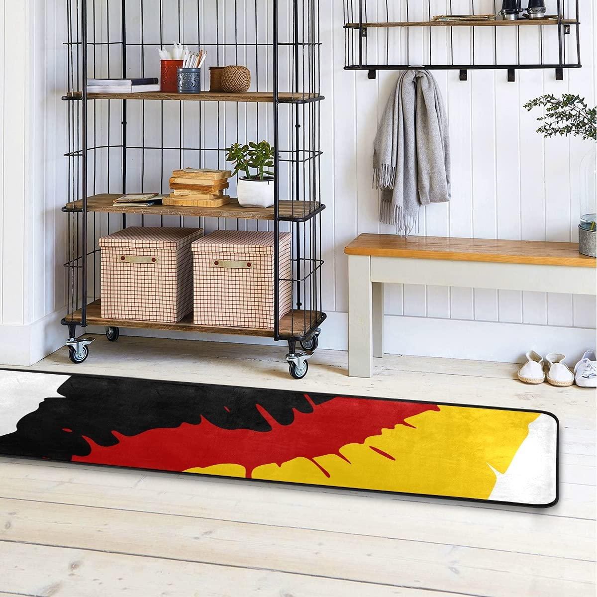 MALPLENA German Flag Lips Kitchen NEW before selling ☆ 7 Runner Modern security Rug