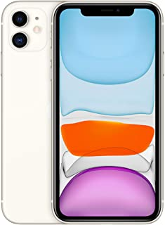 Apple iPhone 11 with Facetime - 128GB, 4G LTE, (2020 - Slim Packing ) White - International Version