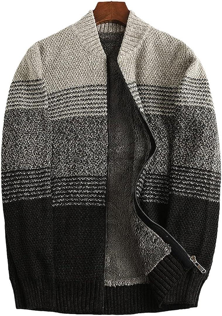 Wool Liner Winter Sweater Man Thicken Warm Sweatcoats Cotton Rainbow Cardigan Men Plus Size