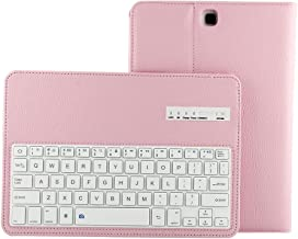 Lrufodya Keyboard Case for Tab A 8.0 inch-2015 Model Tablet,(SM-T350/SM-T355C/SM-P350/SM-P355C),Detachable PU Leather Detachable Keyboard Stand Case/Cover for Samsung TabA 8.0 T350, Pink