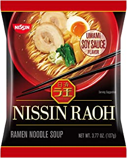 Nissin Raoh, Soy Sauce, 3.77 Ounce (Pack of 6)