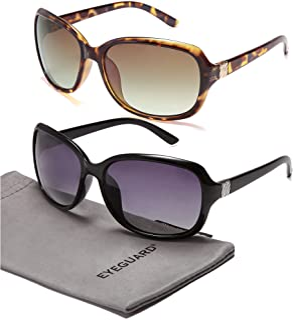 2 Pack Polarized Sunglasses for Women Men Classic Retro...