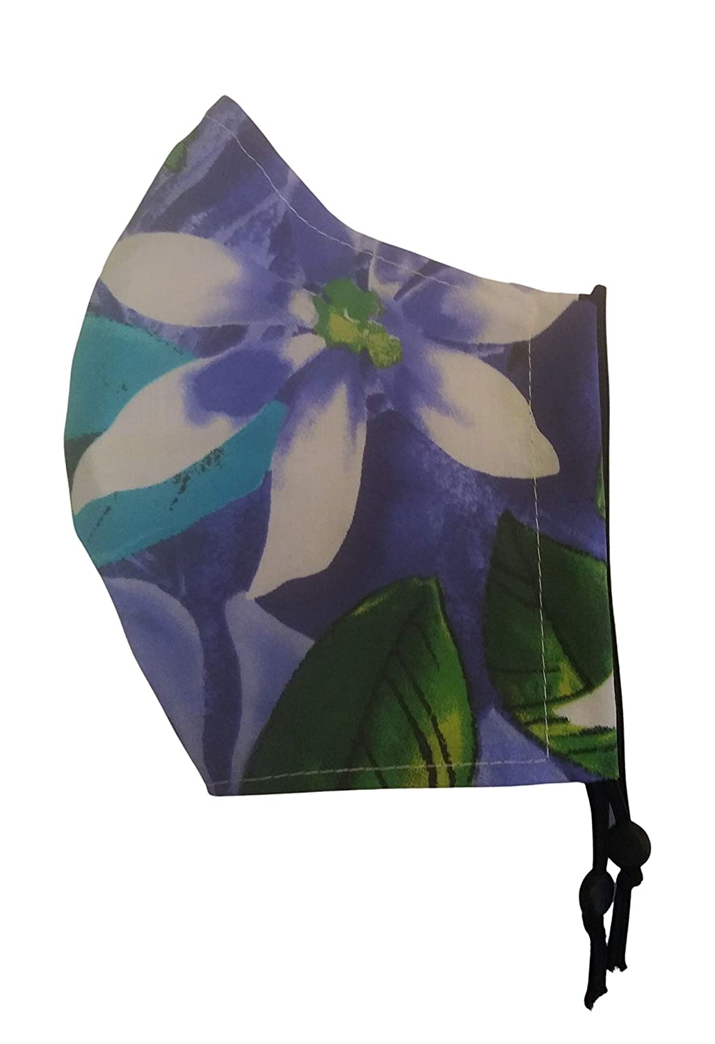 ADULT Size Face store Mask- Purple Hawaiian Mask OFFicial Watercolor Filte