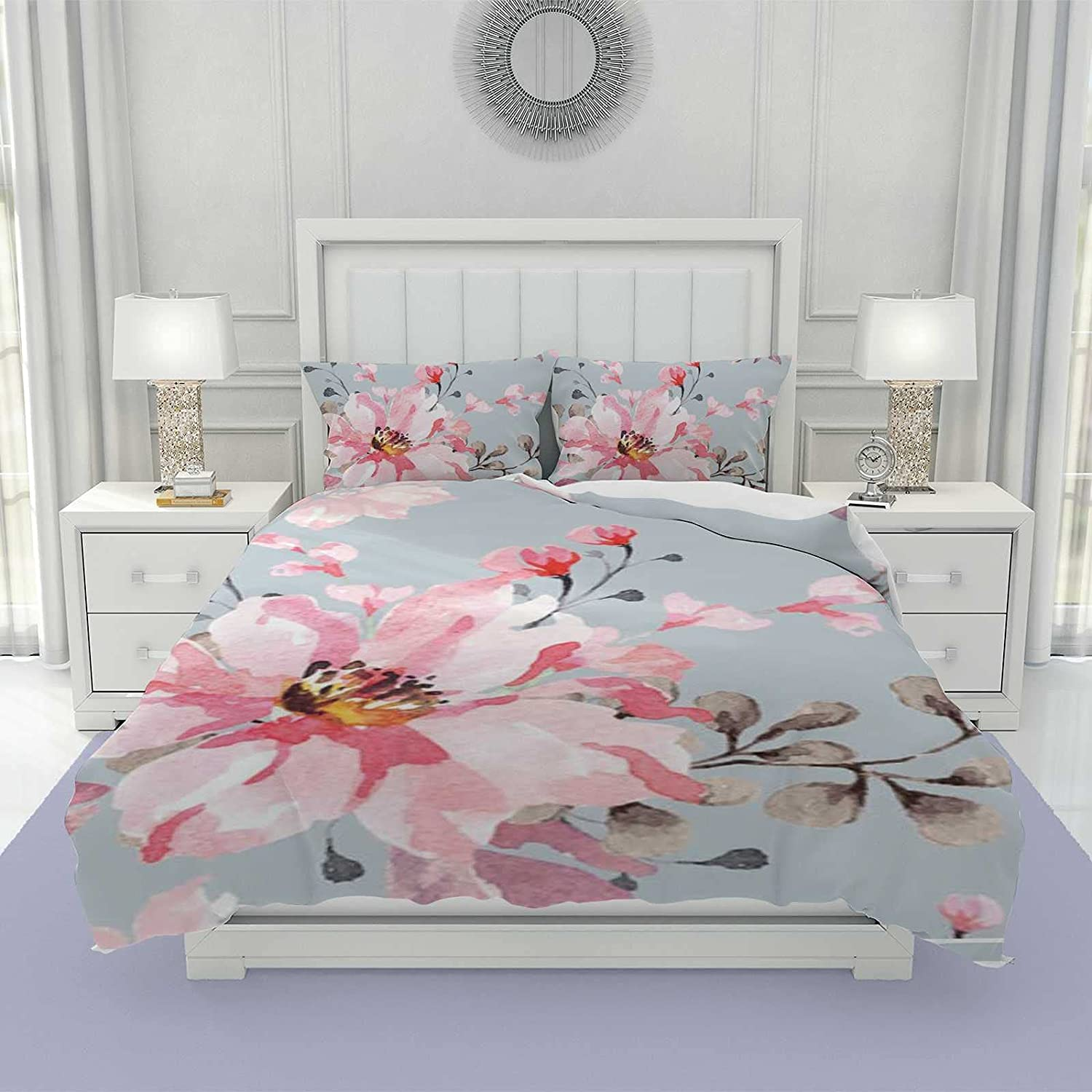 3Pcs Duvet Max 62% OFF Cover Set for Girls Size w New product type Women and King