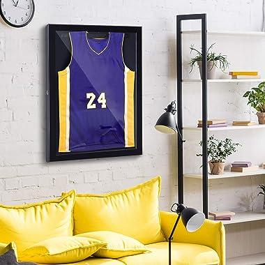 "HOMCOM 24"" x 32"" Sports Jersey Memorabilia Shadow Box Frame Acrylic Display Case"