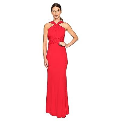 Badgley Mischka Jersey Pull Through Gown (Red) Women