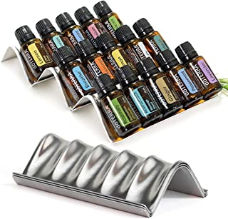 Simply Shelf Essential Oil Storage Organizers - 3pc Expandable Set - Essential Oil Holders for Drawer Storage & Tabletop Display - Holds 15 Oil Bottles (5 & 15mL)