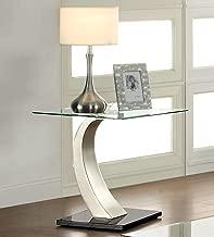 Furniture of America Kassius Modern End Table, Metallic Finish