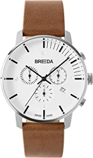 Men's 'Phase' 9001 Stainless Steel with Italian Leather Strap Watch, 41MM