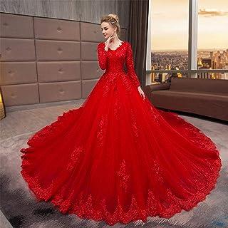 hochzeitskleid rot spitze