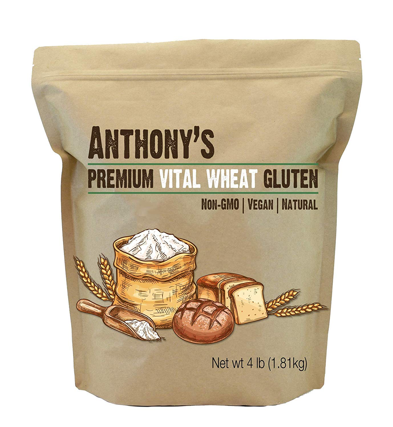 Anthony's Vital Wheat Gluten Natural Protein wholesale 4lbs High Veg in Over item handling
