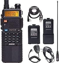 BaoFeng UV-5R 8 Watt High Power VHF UHF Dual Band Two Way Radio Tri-Power 8/4/1W Portable Ham Radio with one More 1800mAh Battery,Speaker, Antenna, USB Program Cable and Earpiece