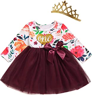 Shalofer Baby Girl Birthday Dress Set Little Girls Floral Lace Outfit Sets …