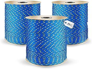 30m POLYPROPYLENSEIL 16mm BLAU Polypropylen Seil Tauwerk PP Flechtleine Textilseil Reepschnur Leine Schnur Festmacher Rope Kunststoffseil Polyseil geflochten