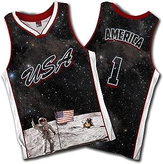Greater Half: USA Galaxy Basketball Jersey America Jersey #1 (S-XXXXL)