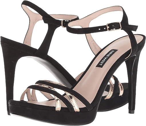 Black/Pink Suede