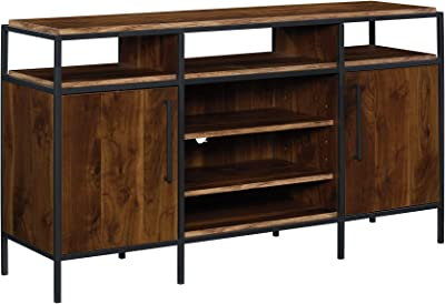 Sauder Nova Loft Credenza Grand Walnut Finish, for TVs up to 65""