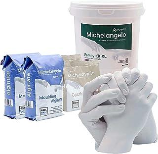 Michelangelo Kit XL 4 Manos, para Crear una Escultura de 4 Manos de Adultos o de niños con Familiares o Amigos. Incluye Ja...