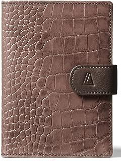 Leather Architect Men's 100% Leather RFID Blocking Tabbed Passport Holder