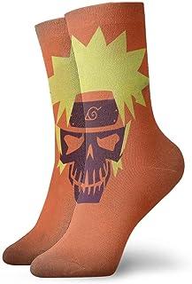 eneric, Naruto Uzumaki Naruto Skull - Calcetines para hombre y niño, cómodos y acolchados fríos