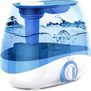 MOOKA Humidifier for Bedrooms & Large Rooms, 5L (1.32Gal) Ultrasonic Cool Mist Humidifier for Babies, Quiet Operation, Lasts up to 50 Hours, Auto Shut-Off (BPA-Free)