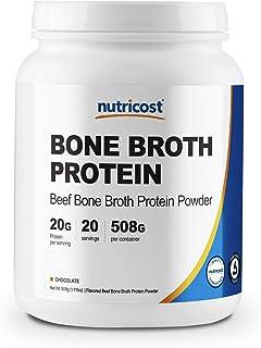 Nutricost Beef Bone Broth Protein Powder (20 Serv) Chocolate Flavor - Gluten Free, Non-GMO