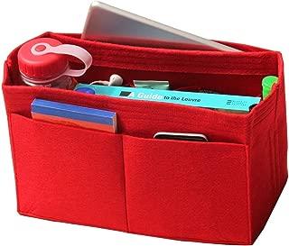[Fits Neverfull GM/Speedy 40, Red] Felt Organizer, Bag in Bag, Wool Purse Insert, Customized Tote Organize, Cosmetic Makeup Diaper Handbag