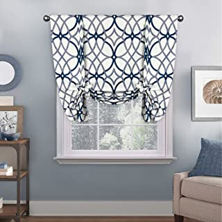 H.VERSAILTEX Thermal Insulated Blackout Adjustable Tie Up Shade Rod Pocket Curtain for Small Window - 42