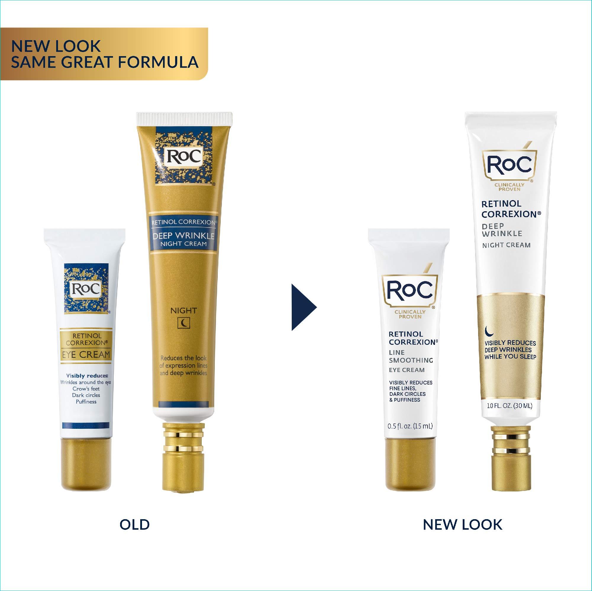 Roc Retinol Value Set Duo, Deep Wrinkle Night Face Cream and Retinol Correxion Eye Cream (Packaging May Vary)
