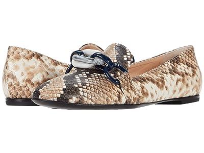 AGL Chain Link Loafer (Fog Snakeskin) Women