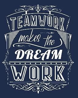 Teamwork Makes The Dream Work: Volunteer Staff Appreciation Lined Notebook