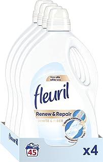 Fleuril White & Fiber, Vloeibaar Wasmiddel, Witte Was, 180 (4x45) Wasbeurten