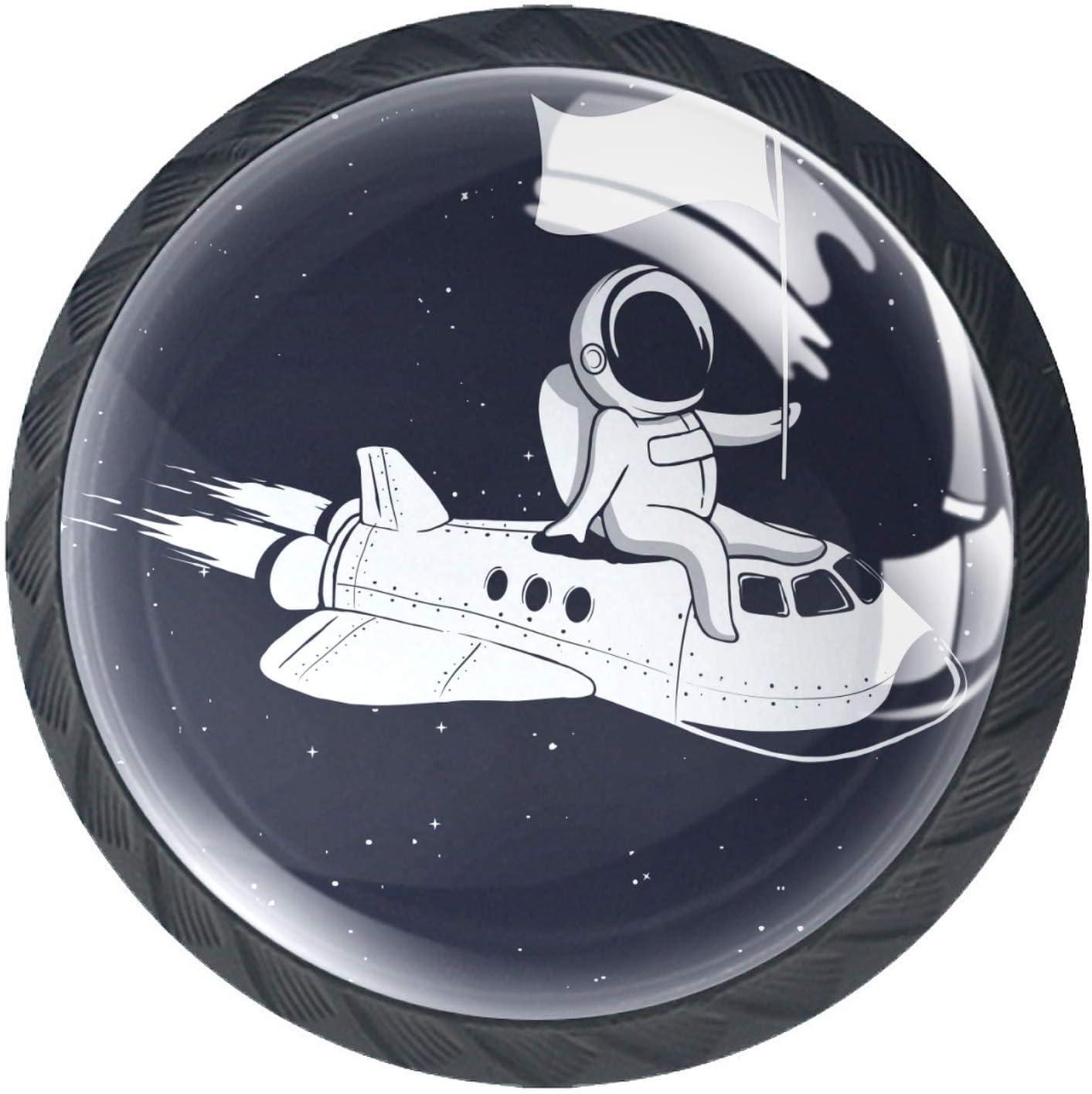 Door Knobs Space Traveler Drawer Philadelphia Mall New item Lovely Rocket Handl