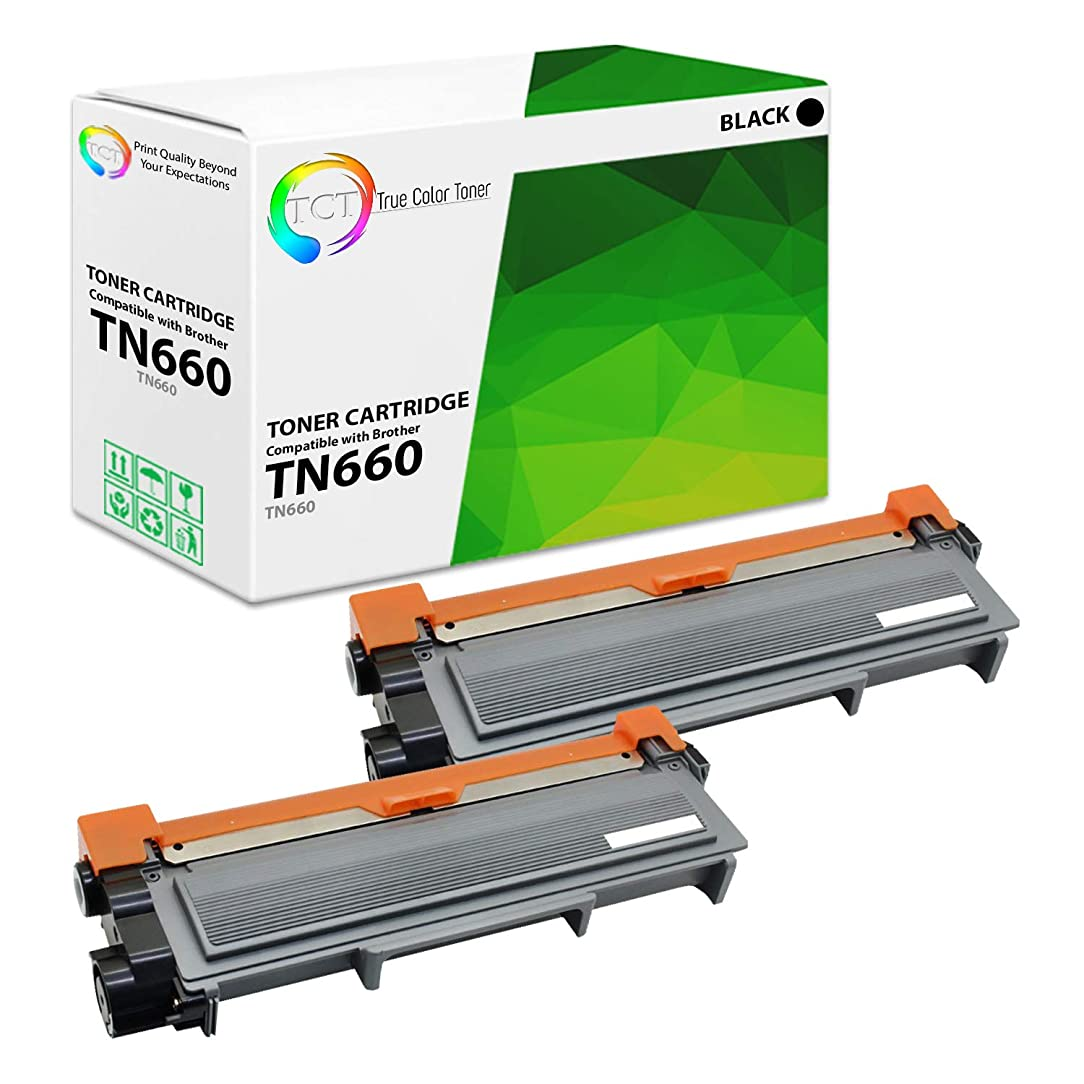 True Color Toner TN660 TN-660 2-Pack Premium Compatible Toner Cartridge Replacement for Brother HL-L2340dw L2300d L2360dw L2380dw, MFC-L2700dw L2740dw, DCP-L2520dw L2540dw Printers (2,600 Pages)