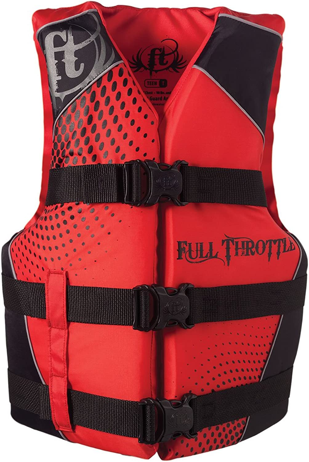 Full Thredtle Teen DualSized Nylon Water Sports Vest, Red