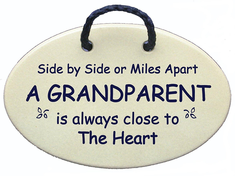 GRANDPARENT Ceramic handmade Reduced Saying
