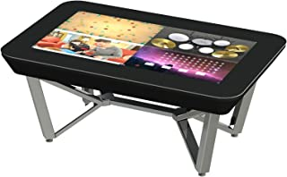 Touch Center Multi Touch Digital Interactive Display Coffee Table - Chrome Legs - for Educational Classrooms, Business Presentations, and Home Entertainment