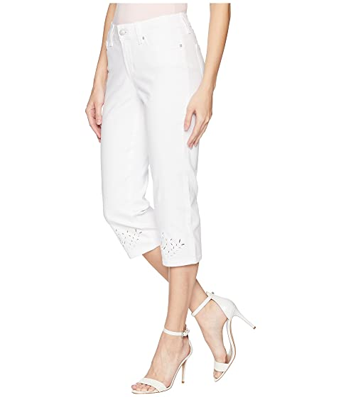 NYDJ Marilyn Crop Eyelet Embroidery Hem in Optic White Optic White Sale Deals Low Price Cheap Price fepppaSwu