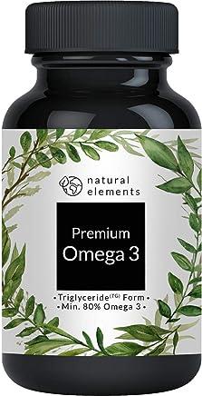 Omega 3 Fischöl - Einführungspreis - Premium: 80% Omega 3-Gehalt in Triglycerid-Form - Aufwendig aufgereinigt, hochdosiert und aus nachhaltigem Fischfang - 120 Kapseln