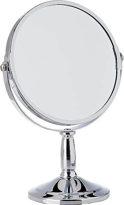 Premier Housewares Table Mirror Chrome Free Standing Mirror Silver Makeup Mirror Round Mirror Small Mirror Circle Mirror Or Bathroom Mirror 23x15x15 Amazon Co Uk Home Kitchen