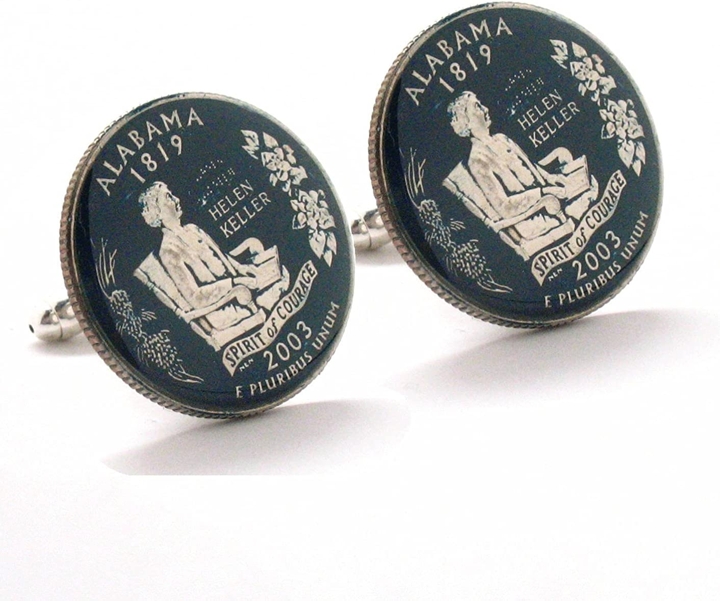 Beauty products Alabama Quarter Cufflinks Suit Flag Dix State Coin Jewelry Luxury goods South