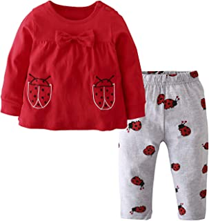 Baby Girls Clothes Set 2 Piece Long Sleeve Cartoon...