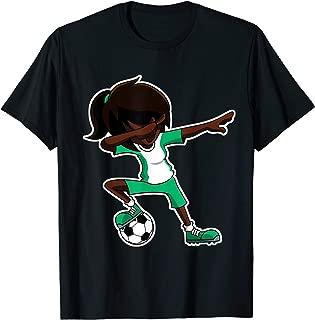 Dabbing Soccer Girl Nigeria Shirt, Nigerian Flag Jersey