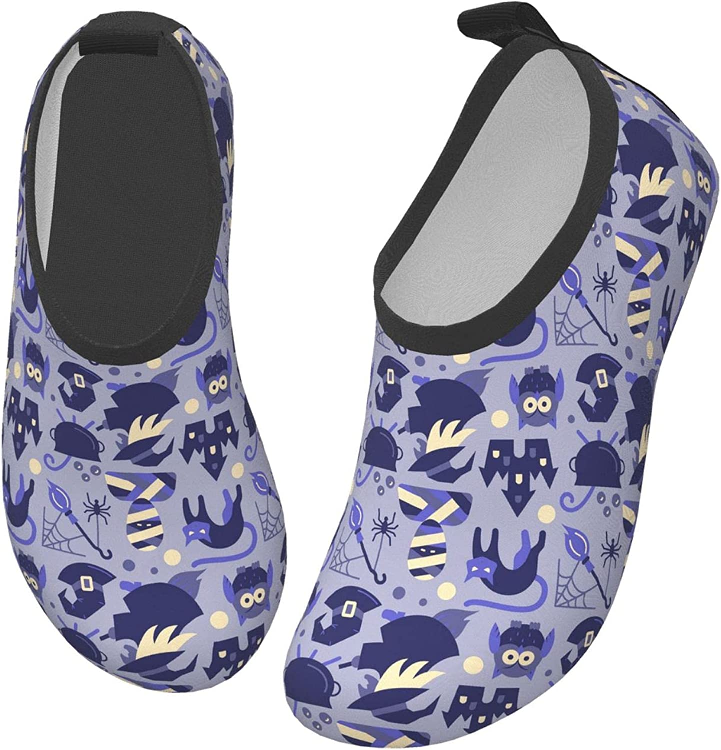 Purple Animal Autumn Owl Halloween Children's Water Shoes Feel Barefoot for Swimming Beach Boating Surfing Yoga