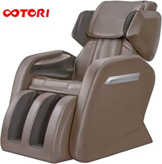 Massage Chair Recliner, Zero Gravity Full Body Shiatsu Luxurious Electric Massage Chair with Stretched mode Heating back and Foot Rollers Massage Therapy (Gray)