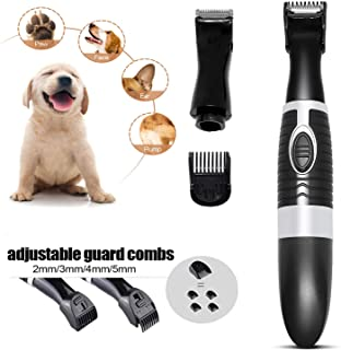 Anipet Dog Clippers, Small Dogs Grooming Kit with 2 Replaceable Blades, Quiet Light Electric Pet Hair Trimmers for Paws, Rump, Eyes, Face, Ears
