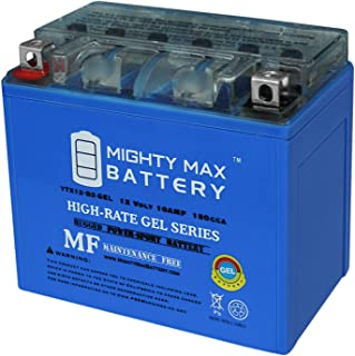 Mighty Max Battery YTX12-BS 12V 10AH Gel Battery for Aprilia RSV 1000 Mille R 2001-05 Brand Product