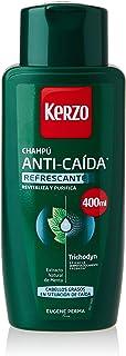 Kerzo - Champú Anticaída - Refrescante - para Cabellos Grasos en Situación de Caída con Extrato Natural de Menta para Ho...