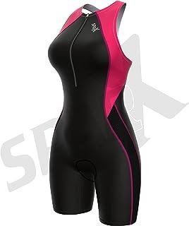 Sparx 女士铁人三项套装三件套赛车套装带内部支撑文胸 自行车游泳跑步